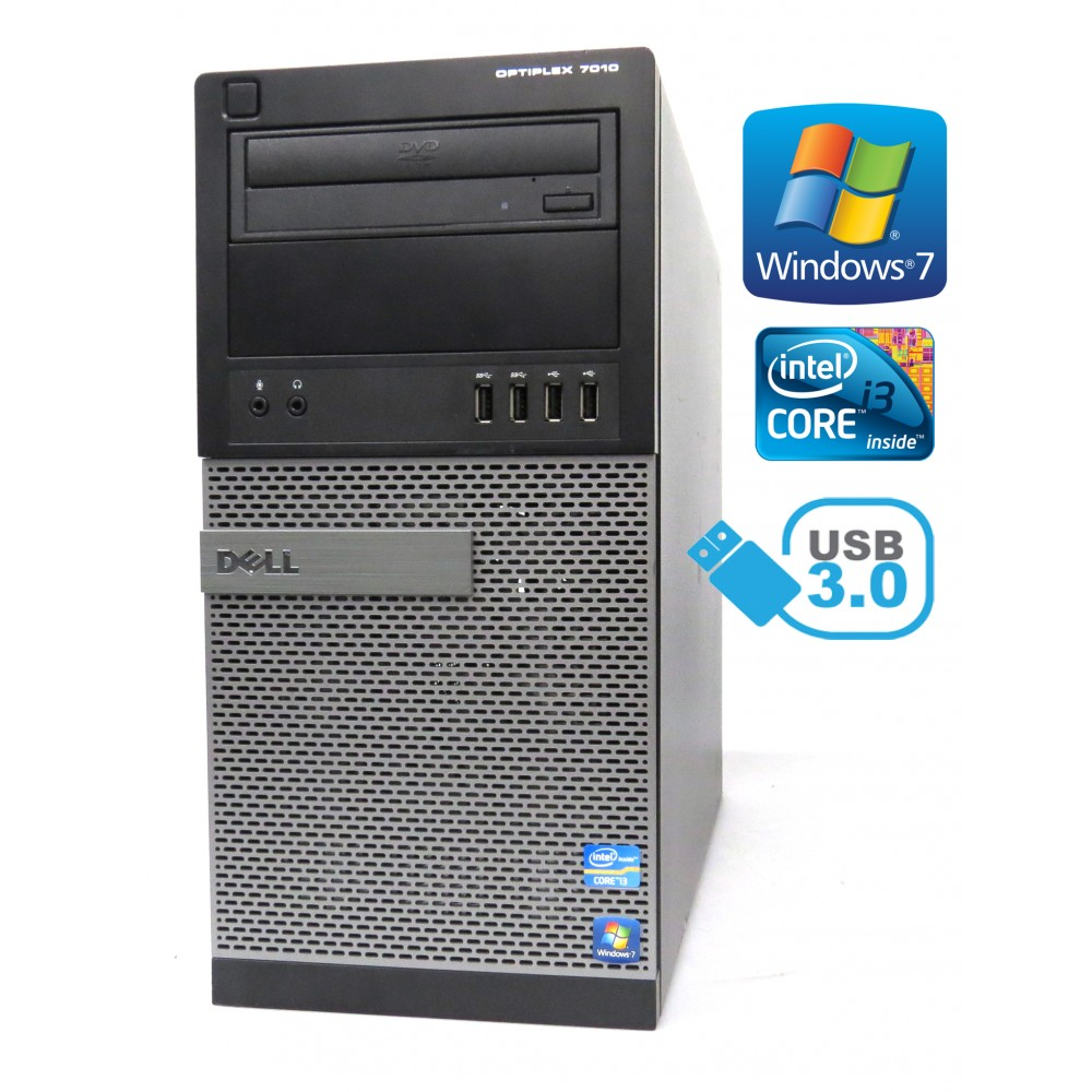Dell Optiplex 7010 i3 3220 3,30Ghz 4GB RAM 250GB HDD DVD W7P