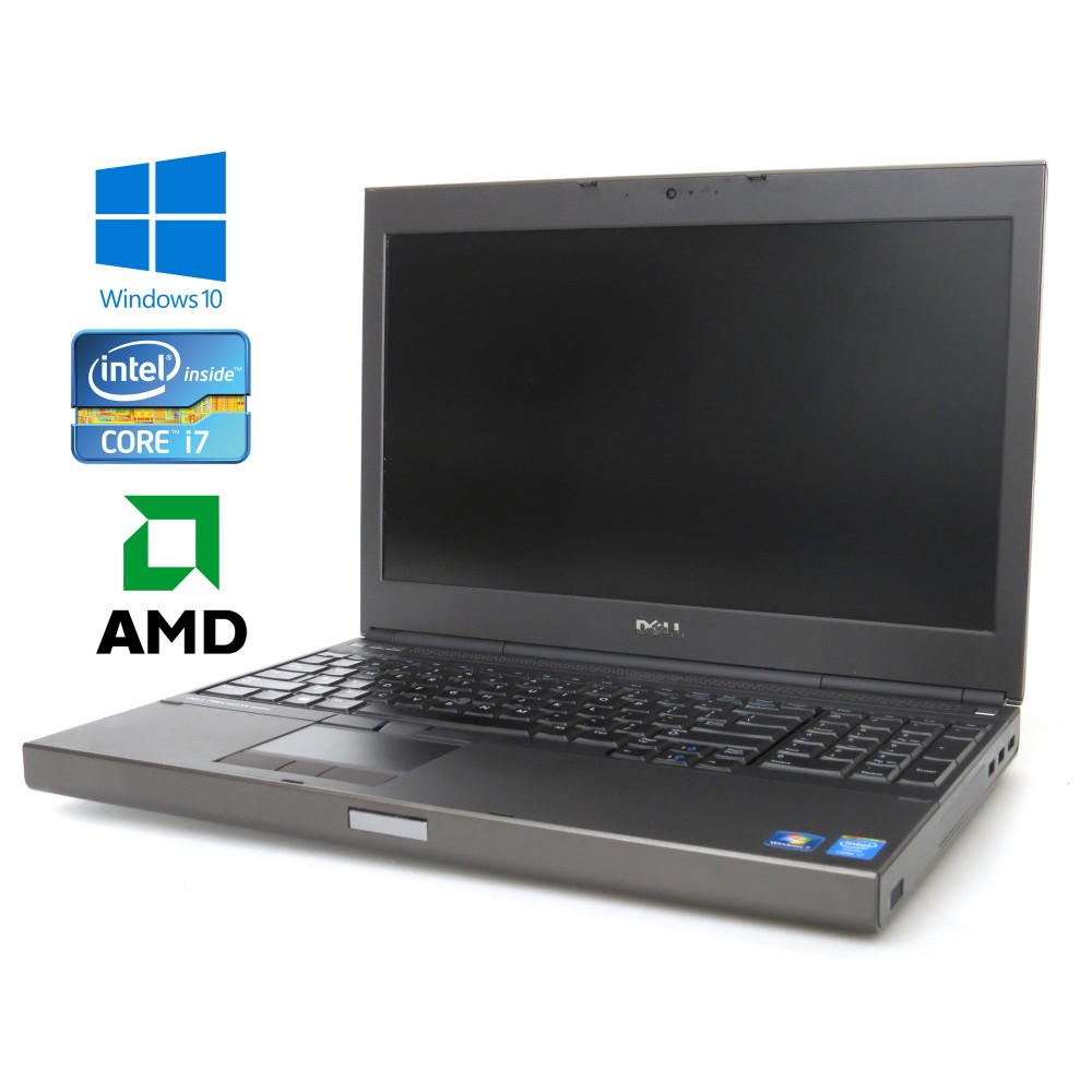 Dell Precision M4800, Intel i7-4930MX, 8GB RAM, 500GB HDD, RADEON 8870M, Windows 10