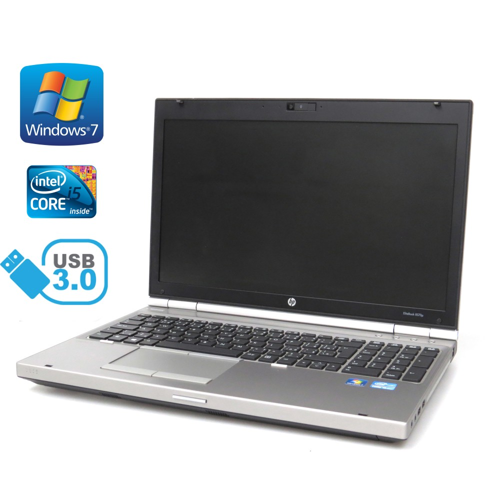 HP Elitebook 8570p, i5-3320M, 8GB RAM, 256GB SSD, Full HD, Windows 7