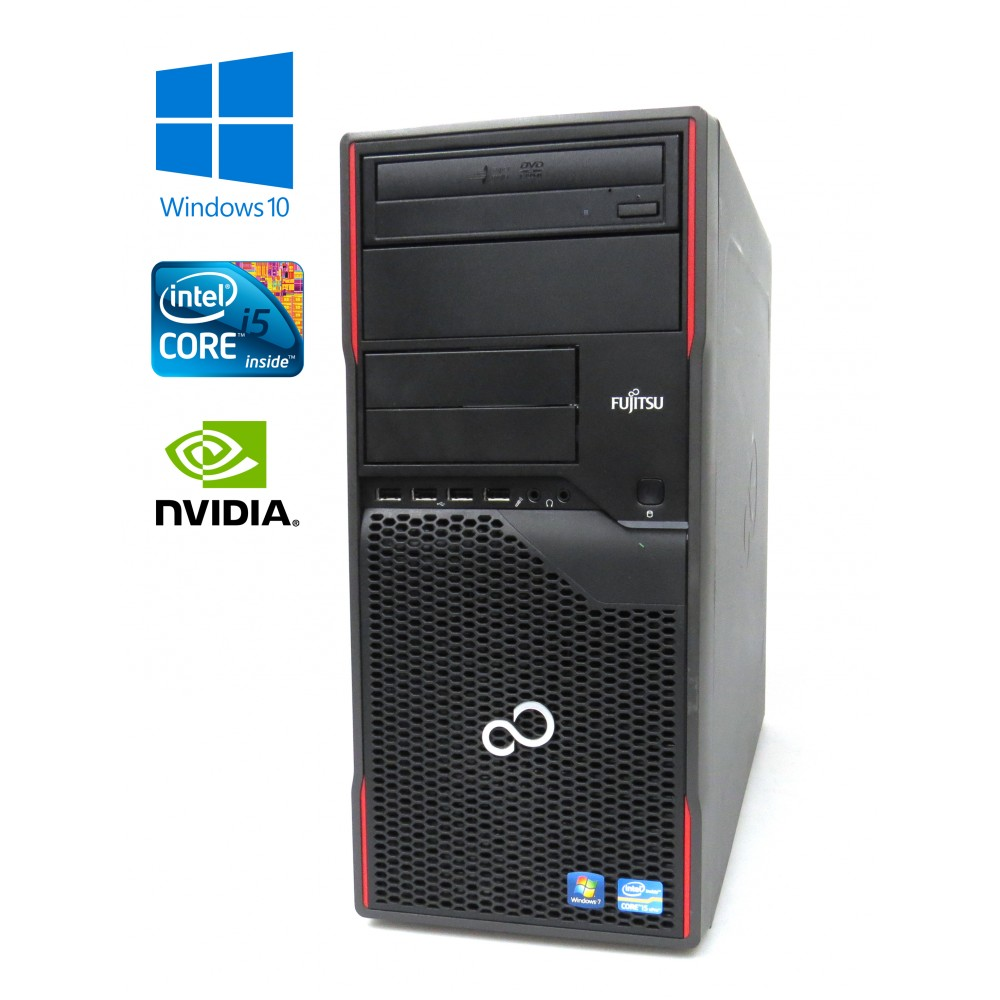 Fujitsu Esprimo P900 - i5-2400 - 3.10GHz, 4GB RAM, 500GB HDD, GeForce 605, Windows 10