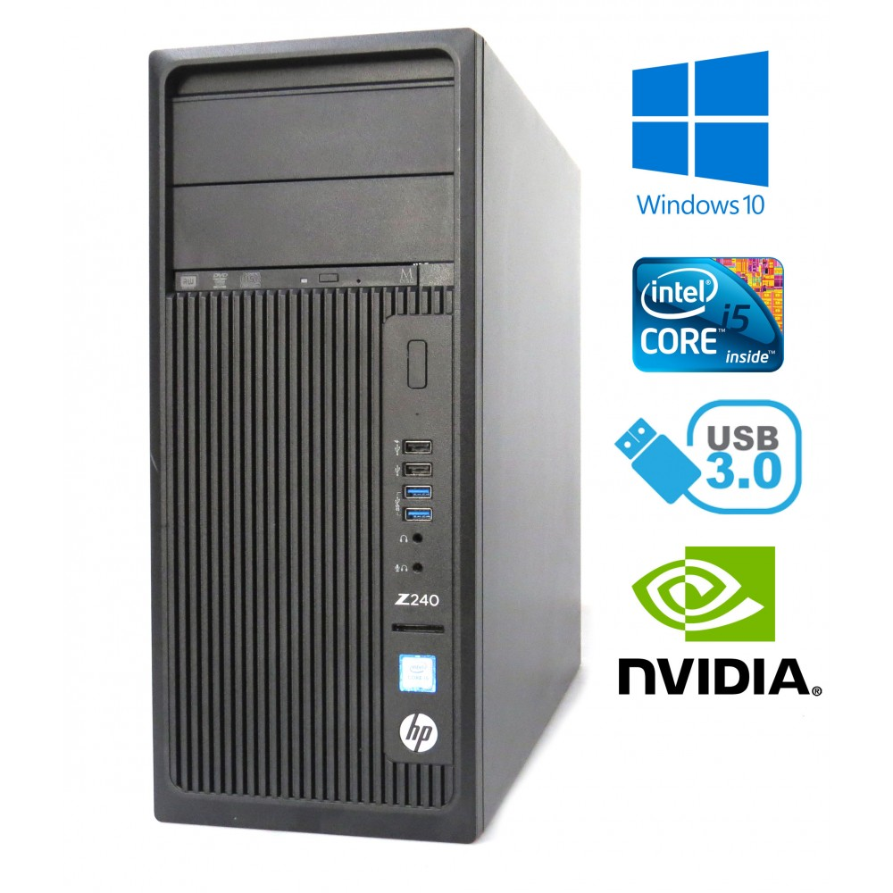 HP Z240 Tower Workstation - Intel i5-6500, 16GB RAM, 256GB SSD, Windows 10