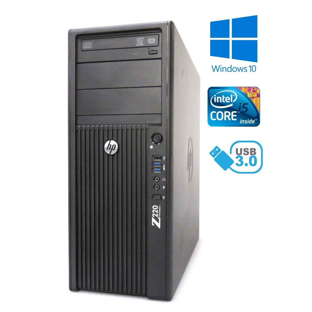 HP Z220 CMT - intel i5-3470/3.20GHz, 4GB RAM, 500GB HDD, Windows 10