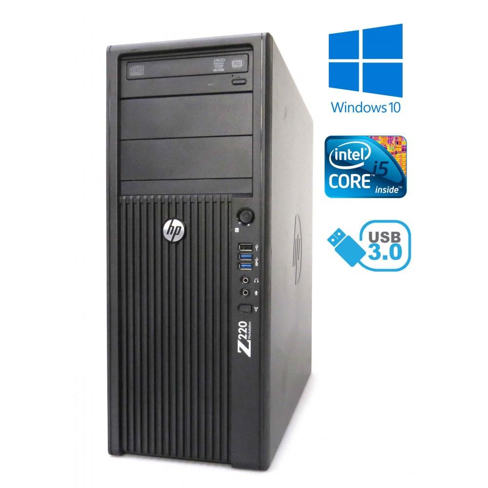 HP Z220 CMT - intel i5-3470/3.20GHz, 4GB RAM, 500GB HDD, Windows 10