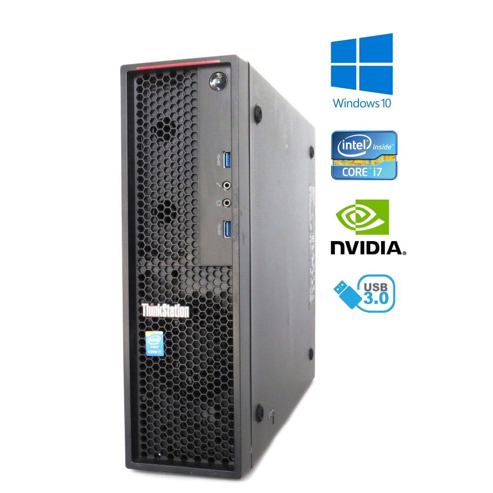 Lenovo ThinkStation P300 SFF - Intel i7-4790/3.60GHz, 16GB, 250GB SSD, Quadro K620 - 2GB, Windows 10