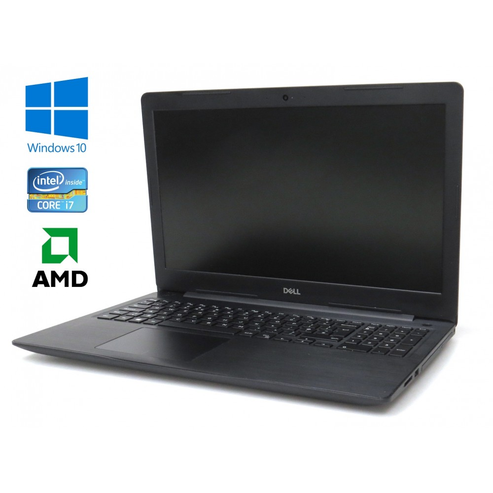 "Dell Inspiron 15 (5570) černý - i7-8550U/1.80GHz, 16GB RAM, nový 480GB SSD, AMD Radeon, DVD-RW, 15,6"" FHD, Windows 10"