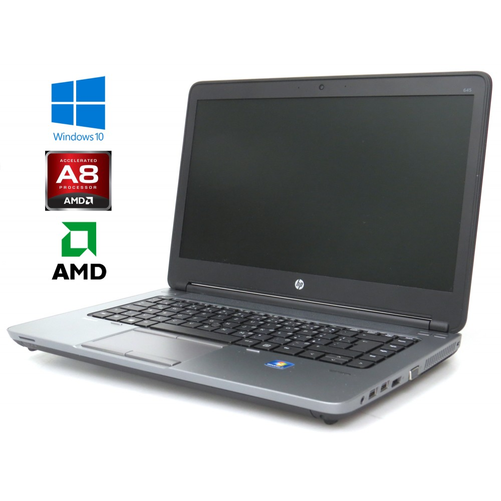 "HP ProBook 645 G1 - AMD A8-5550M, 4GB, 128GB SSD, 14"" HD, AMD Radeon, Windows 10"