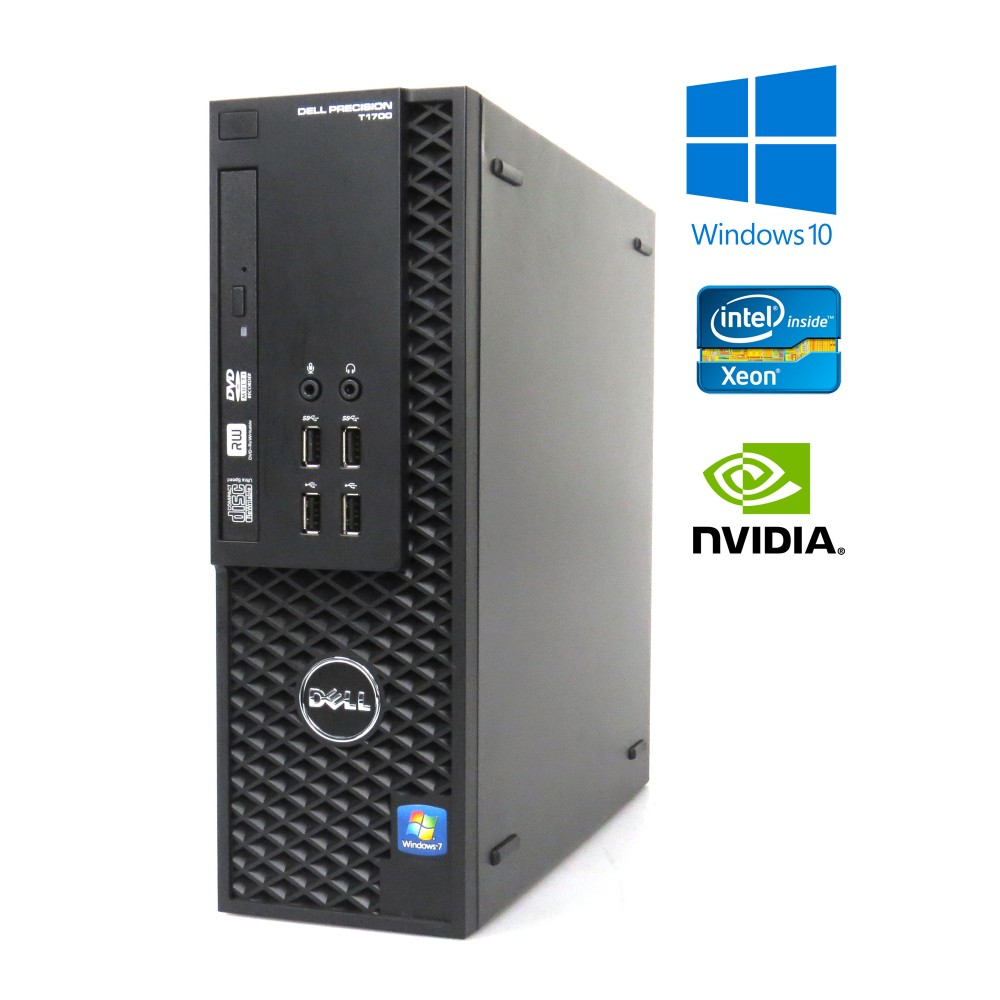 Dell Precision T1700 SFF E3-1240 v3/3.40GHz, 8GB RAM, 500GB HDD, Nvidia NVS300, Windows 10