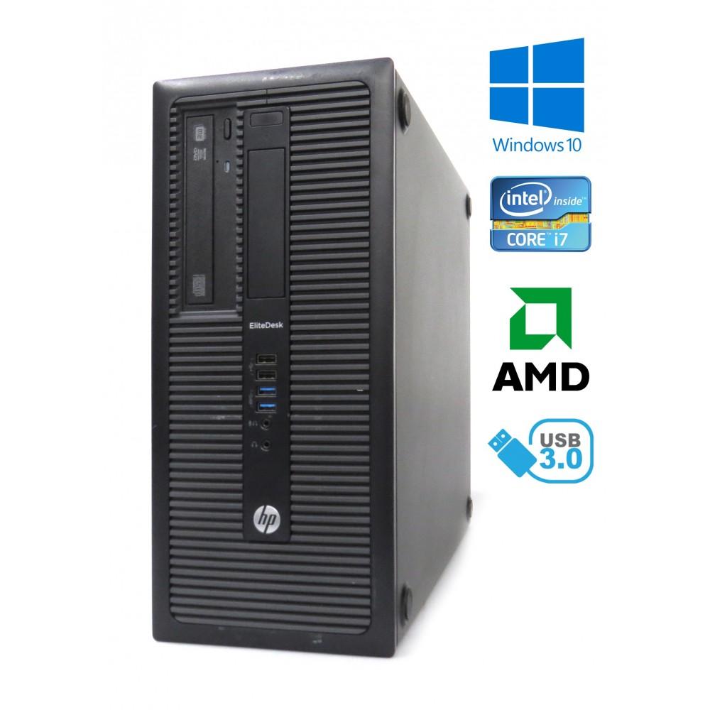 HP EliteDesk 800 G1 TOWER, i7-4770, 8GB RAM, 180GB SSD+500GB HDD, AMD HD 8490, W10
