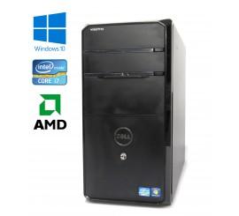 Dell Vostro 470 - Intel i7-3770/3.40GHz, 8GB RAM, 256GB SSD + 1TB HDD, AMD Radeon, WiFi, Bluetooth, Windows 10