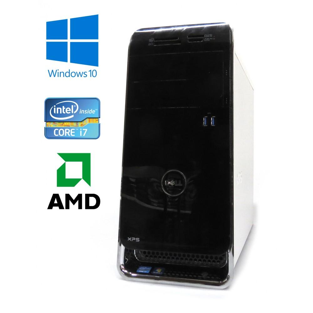 Dell XPS 8500 - Intel i7-3770/3.40GHz, 8GB RAM, 256GB SSD + 1TB HDD, AMD Radeon, WiFi, Bluetooth, Windows 10
