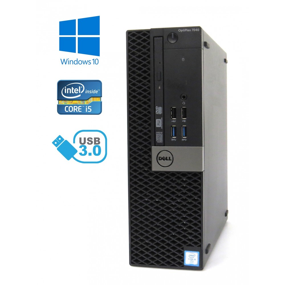 Dell Optiplex 7040 SFF - Intel i5-6500/3.20GHz, 8GB RAM, 500GB HDD, Windows 10