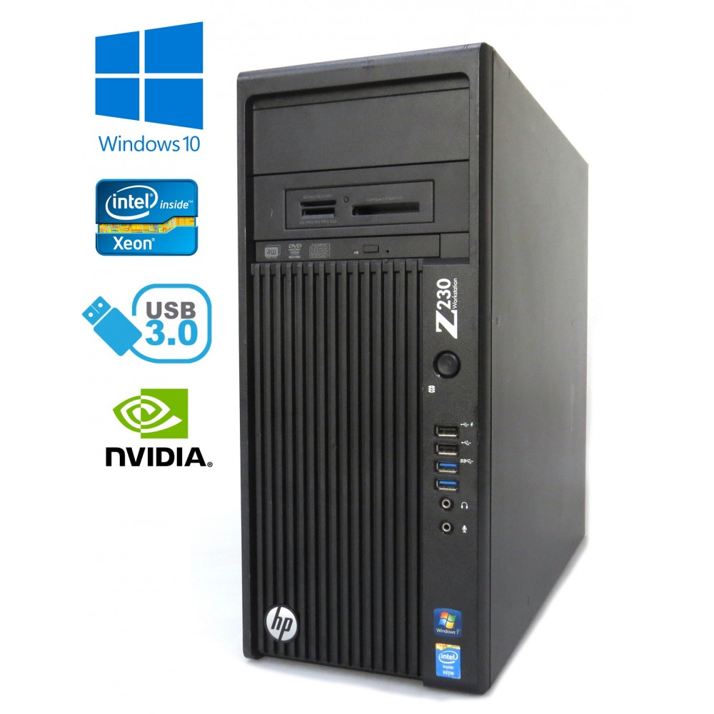 HP Z230 Workstation - Xeon E3-1240 v3, 16GB, 480GB SSD + 1TB HDD, Quadro K2000