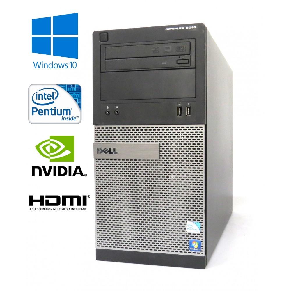 Dell Optiplex 3010 MT - Pentium G2020/2.90GHz, 8GB, 256GB SSD,DVD-RW, Nvidia GT710, Windows 10