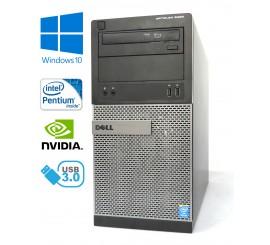 Dell Optiplex 3020 MT - Pentium G3220/3.00GHz, 8GB, 256GB SSD, DVD-RW, Nvidia GeForce, Windows 10