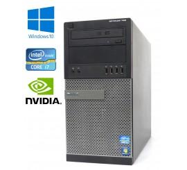 Dell OptiPlex 790 MT- Intel i7-2600/3.40GHz, 8GB RAM, 250GB, Nvidia Quadro, DVD-RW, W10