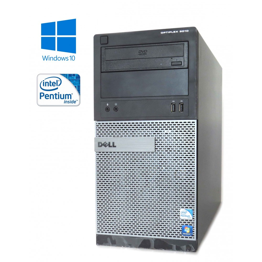 Dell Optiplex 3010 MT - Pentium G2020/2.90GHz, 8GB, 250GB HDD, DVD-ROM, Windows 10