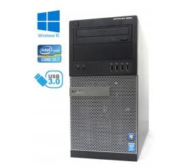 Dell Optiplex 9020 MT - Intel i7-4790/3.60GHz, 16GB RAM,256GB SSD + 1TB HDD, DVD-ROM, Windows 10