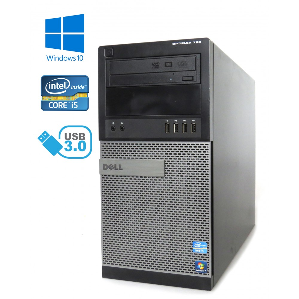 Dell OptiPlex 790 -MT - Intel i5-2500/3.30GHz, 16GB RAM, 250GB HDD, DVD-RW, W10