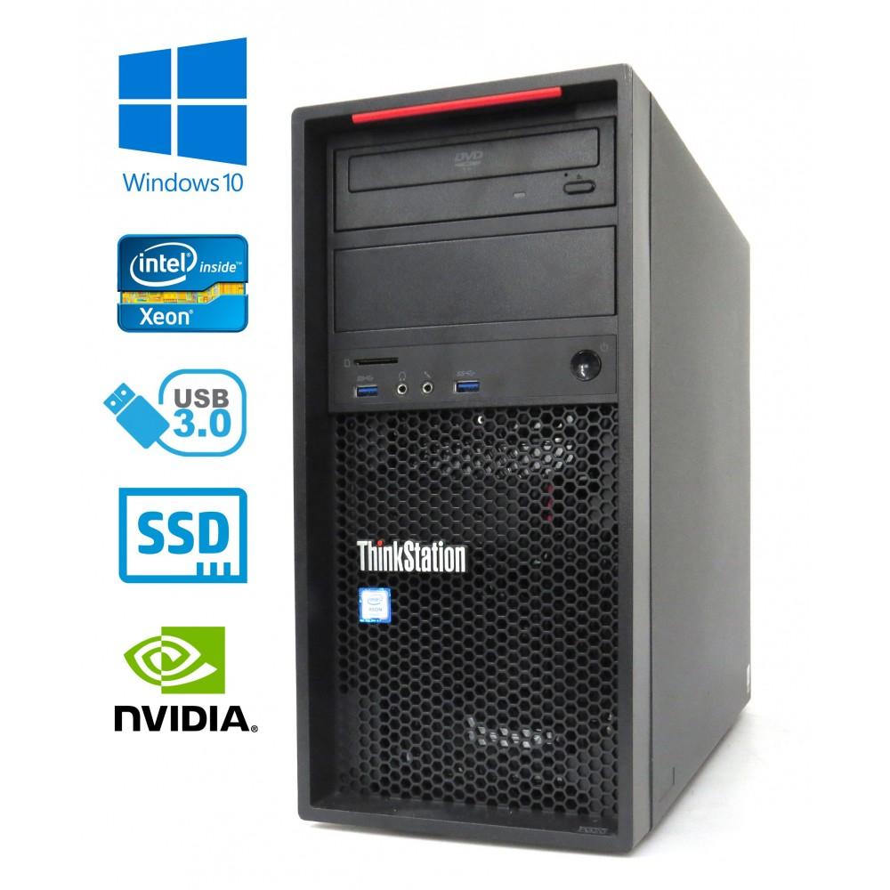 Lenovo ThinkStation P320- Xeon E3-1220 v6/3.00GHz, 16GB, 240GB SSD + 1TB HDD, Quadro P2000-5GB, Windows 10