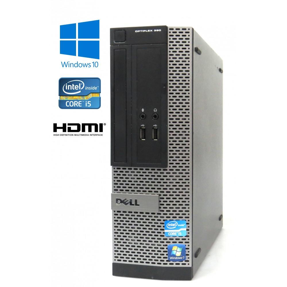 Dell Optiplex 390 - Intel i5-2400/3.10GHz, 4GB RAM, 250GB, SFF, HDMI, Windows 10