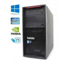 Lenovo ThinkStation P300 Tower - Intel i7-4790/3.60GHz, 32GB RAM, 512GB SSD + 1TB HDD, NVIDIA Quadro, Windows 10