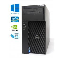 Dell Precision T1700 MT - Xeon E3-1226 v3/3.30GHz, 16GB RAM, 256GB SSD + 500GB HDD, NVIDIA QUADRO K620, Windows 10