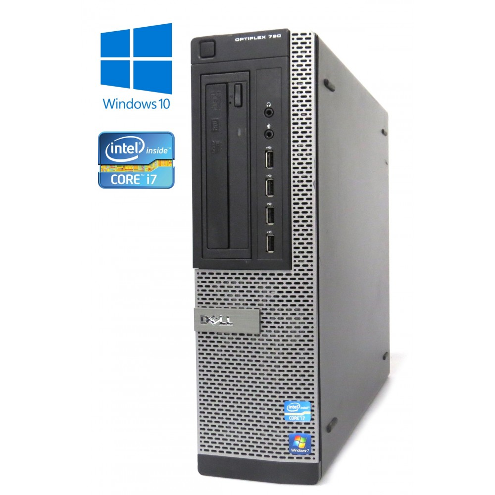 Dell OptiPlex 790 - DT- Intel i7-2600/3.40GHz, 8GB RAM, 500GB HDD, DVD-RW, Windows 10