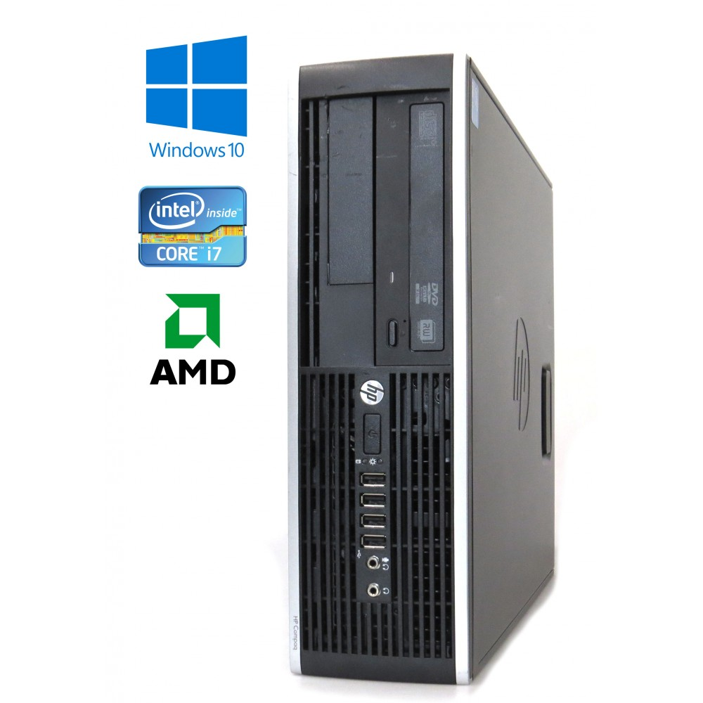 HP Compaq Elite 8200 SFF, Intel i7-2600/3.40GHz, 8GB, 240GB SSD, AMD Radeon HD 6450, Windows 10