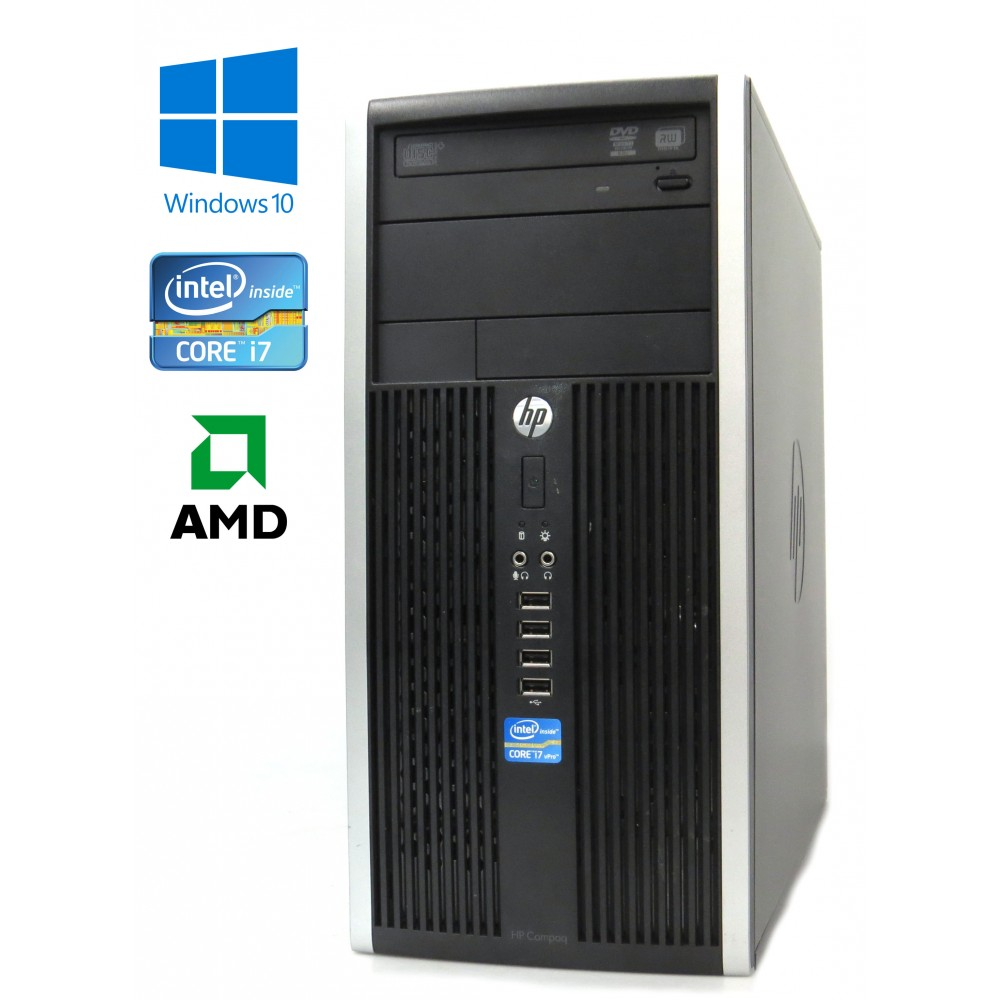 HP Compaq Elite 8200 CMT, Intel i7-2600/3.40GHz, 8GB, 250GB HDD, AMD Radeon HD 6450, Windows 10