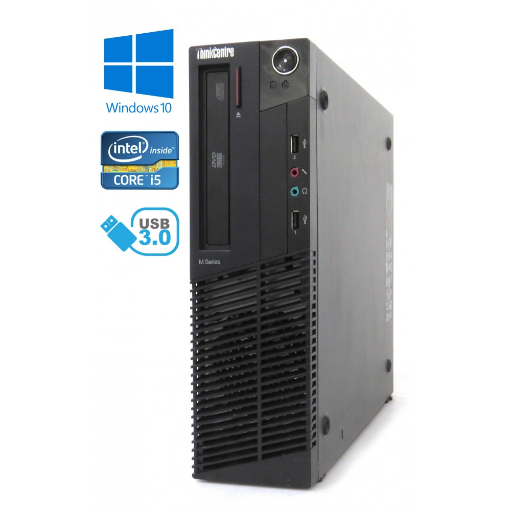 Lenovo ThinkCentre M82 - SFF, Intel i5-3470/3.20GHz, 4GB RAM, 500GB HDD, Windows 10