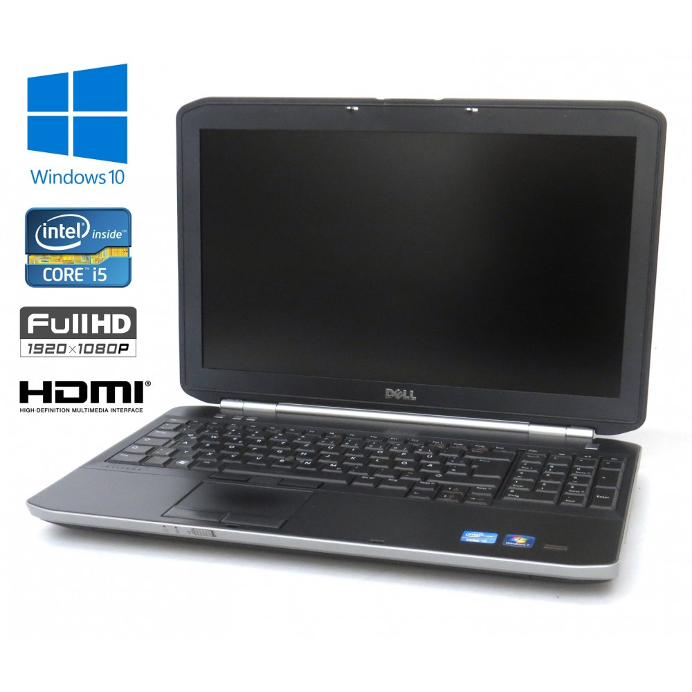 "Dell Latitude E5520, Intel i5-2520/2.50GHz, 8GB RAM, 240GB SSD, 15.6"" Full HD, Podsvícená Klávesnice, FingerPrint, Windows 10"