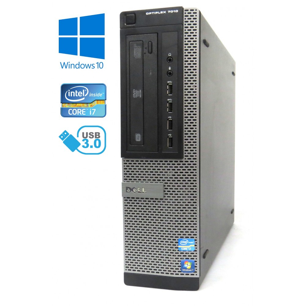 Dell Optiplex 7010 DT - Intel i7-3770, 8GB, 500GB HDD, W10P