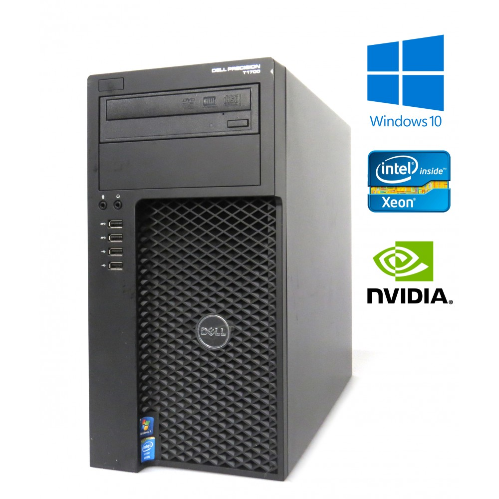 Dell Precision T1700 MT - Xeon E3-1220 v3, 16GB RAM, 256GB SSD, NVIDIA K2000, Windows 10