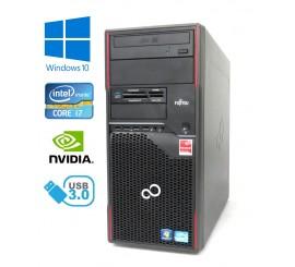 Fujitsu Celsius W410 - Intel i7-2600/3.40GHz, 8GB RAM, 120GB SSD, Nvidia Quadro - 1GB, W10