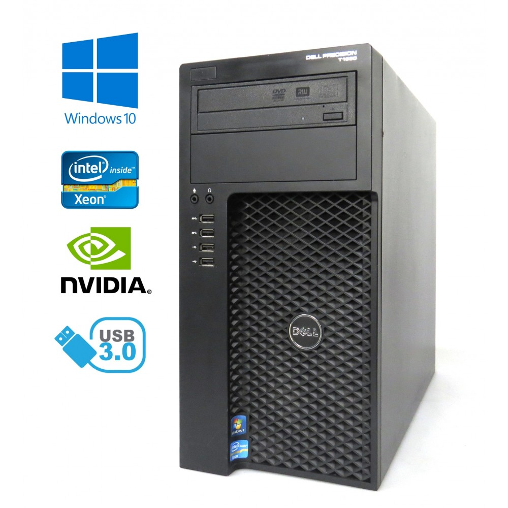 Dell Precision T1650 - Xeon E3-1240 v2/3.40GHz, 16GB RAM, Nový 480GB SSD, NVIDIA Quadro 600 1GB, W10