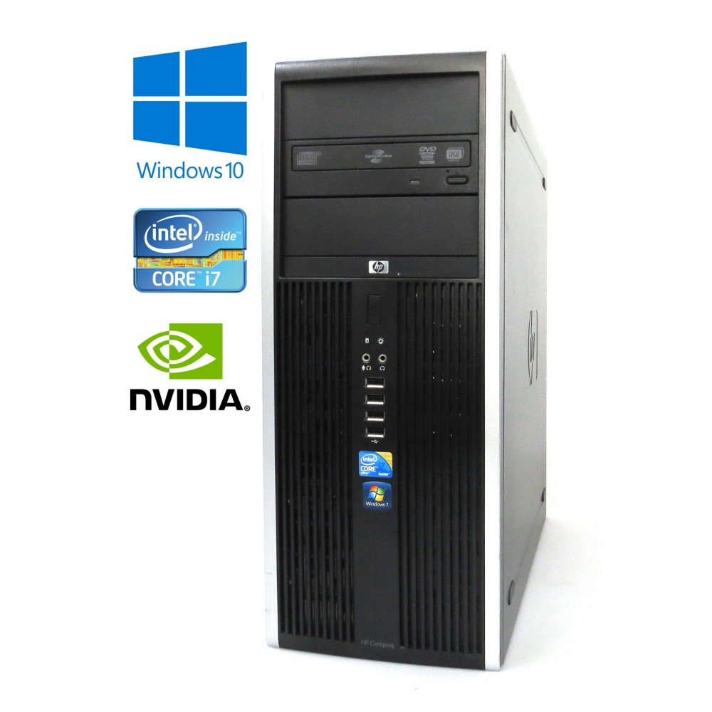 HP Compaq 8100 Elite CMT - Intel i7-860/2.80GHz, 8GB RAM, 500GB HDD, Nvidia Quadro - 256MB, Windows 10