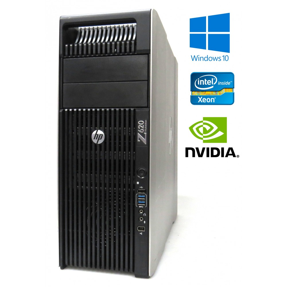 Herní HP Z620 - 2× Xeon E5-2690, 64GB RAM, 480GB SSD+1000GB HDD, Quadro K4000, Windows 7