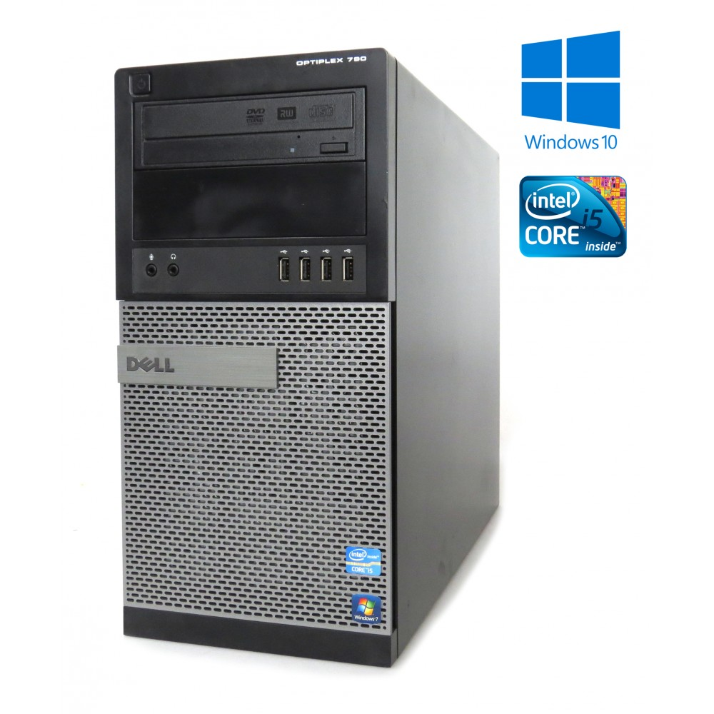 Dell OptiPlex 790 -MT-i5-2400-3.10GHz, 4GB RAM, 500GB HDD, DVD-RW, W7P