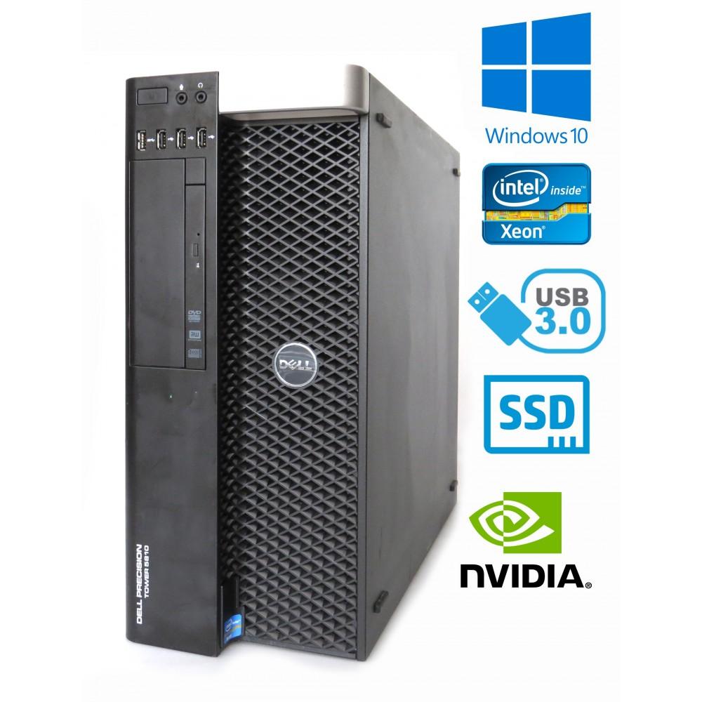 Dell Precision 5810 - Xeon E5-1620 v3, 16GB RAM, 256GB SSD, NVIDIA Quadro K4200, W7P