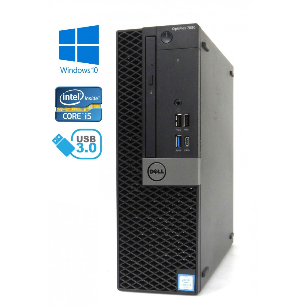 Dell Optiplex 7050 SFF - Intel i5-7600/3.50GHz, 8GB RAM, 250GB SSD + 500GB HDD, Windows 10