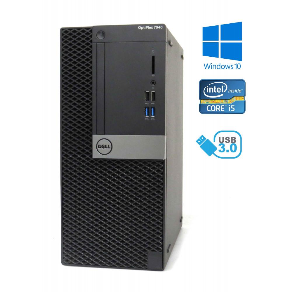 Dell Optiplex 7040 MT - Intel i5-6500/3.20GHz, 8GB RAM, 256GB SSD, Windows 10