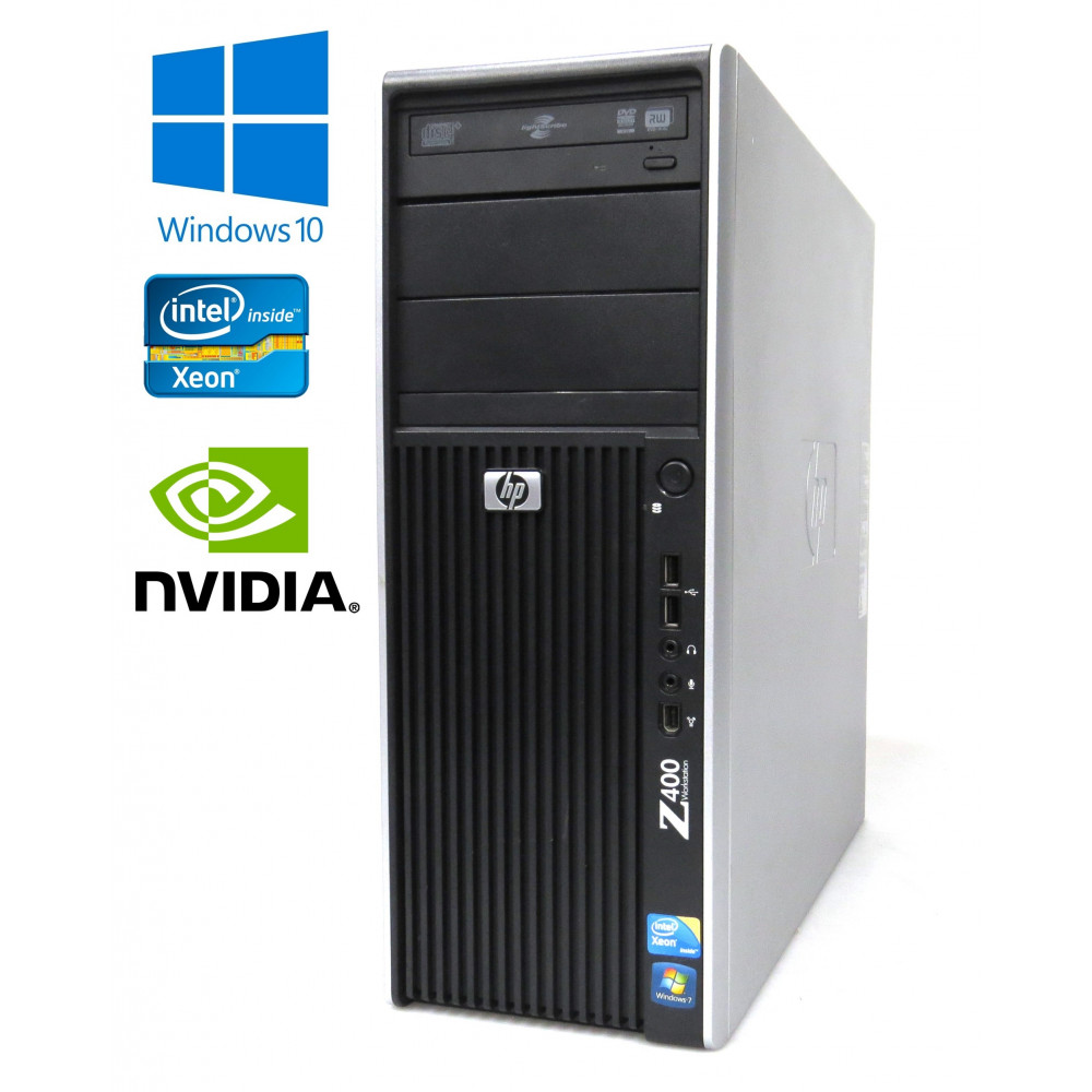 HP Workstation Z400 - Xeon W3670 3.20GHz, 8GB RAM, 2×250GB HDD, Quadro 2000