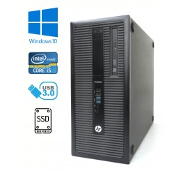 HP ProDesk 600 G1 Tower, Core i5-4690/3.50GHz, 8GB RAM, 240GB SSD+250GB HDD, Win 10