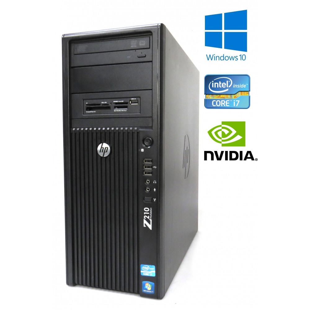 HP Z210 Workstation - Core i7 3.40GHz, 16GB, 256GB SSD+500GB, Quadro 2000, W7