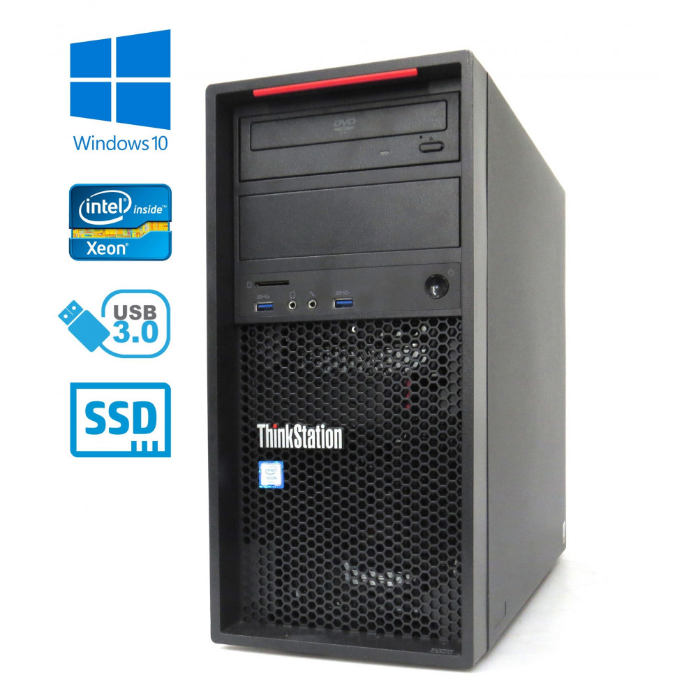 Lenovo ThinkStation P310- Intel I7-6700/3.40GHz, 32GB, 480GB SSD + 1TB HDD, Nvidia Quadro K2200, Windows 10
