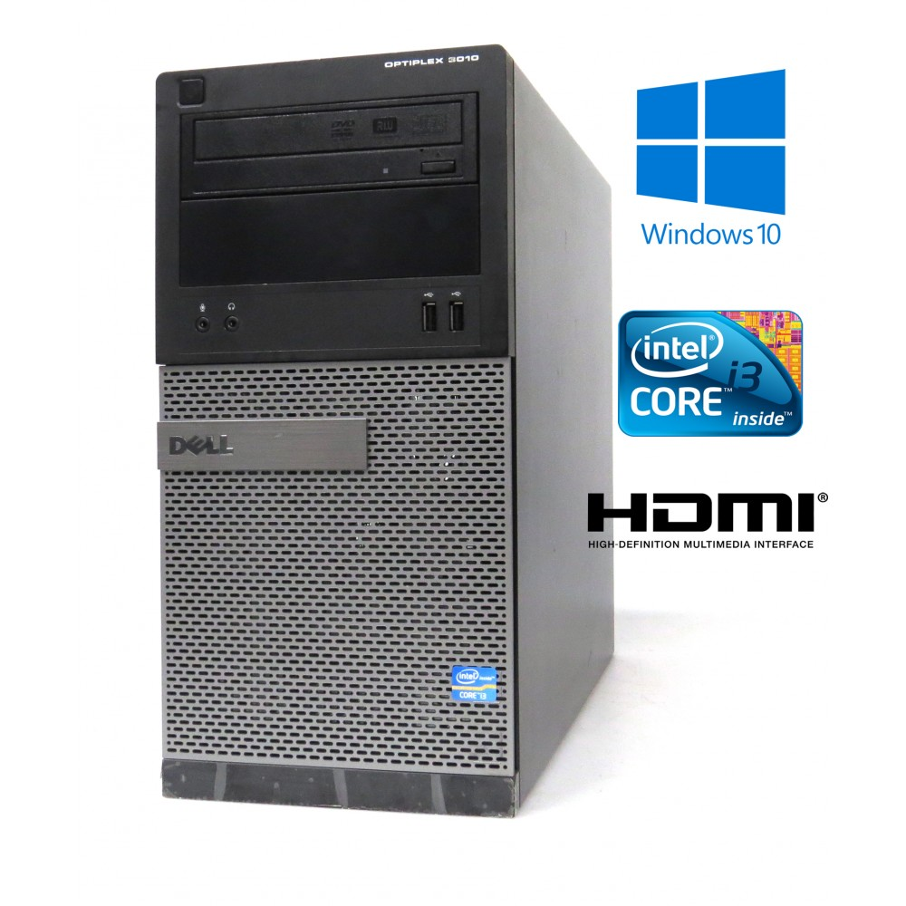 Dell Optiplex 3010 MT-i3-3240 3.40GHz, 4GB, 500GB, Windows 10, HDMI
