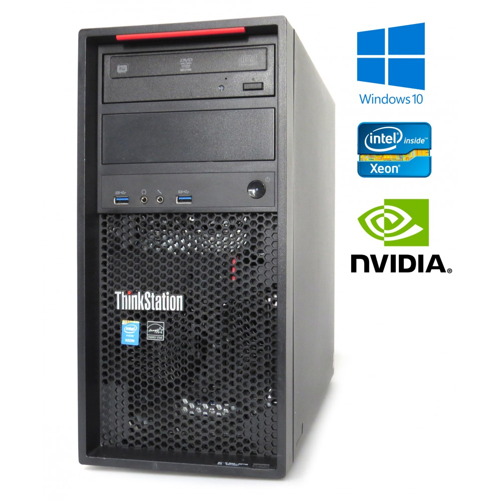 Lenovo ThinkStation P300- Xeon E3-1220 v3, 8GB, 500GB HDD, Quadro K2000, Windows 10