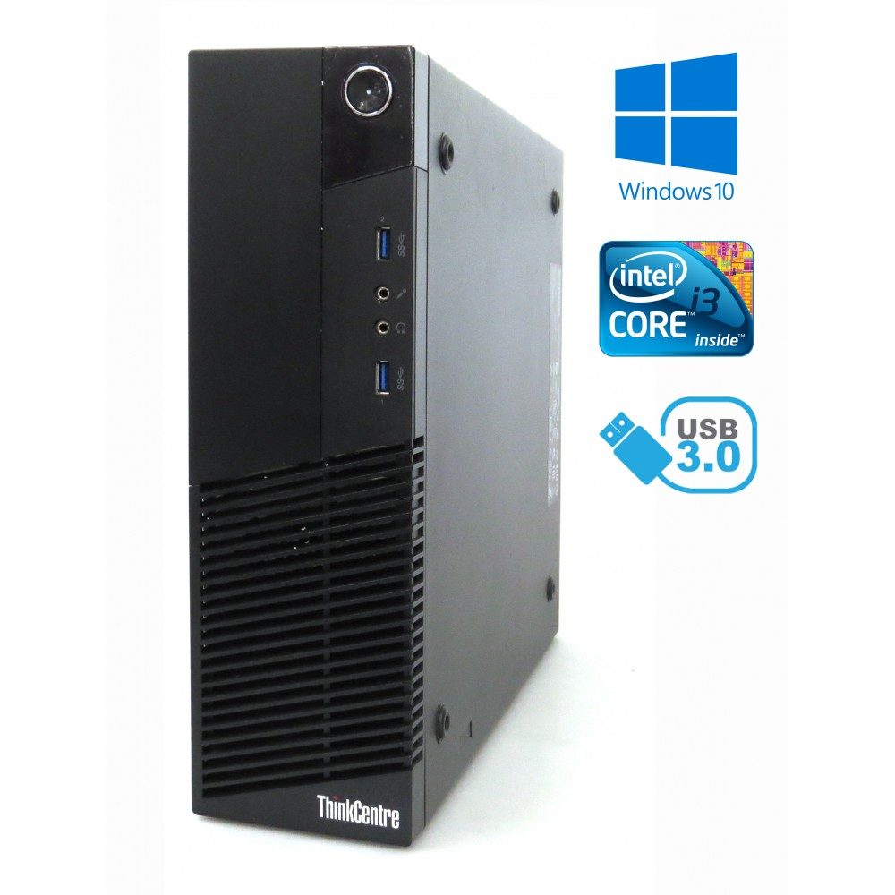 Lenovo ThinkCentre M83 - i3-4350 / 8GB / 256GB SSD / WiFi, Bluetooth / Win 10