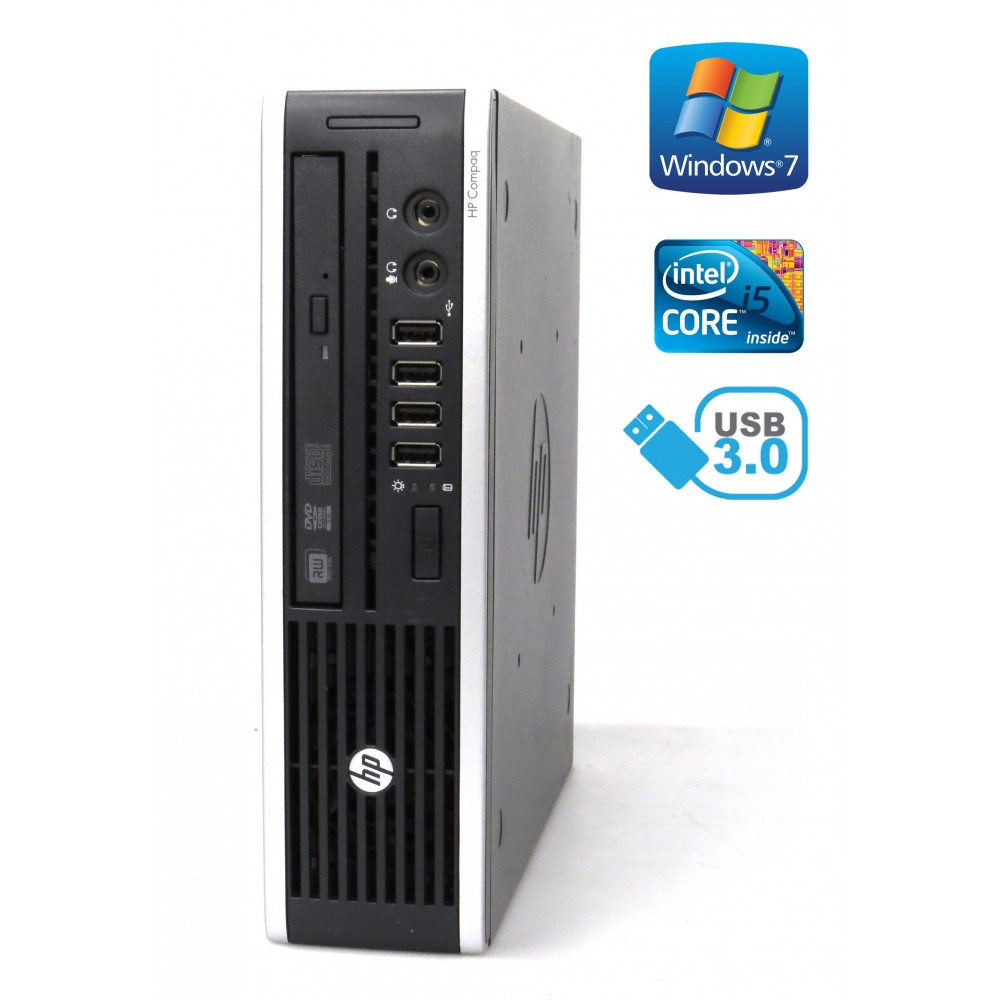HP Compaq Elite 8300 USDT - i5-3470S, 4GB, 500GB, DVD-RW, Windows 7